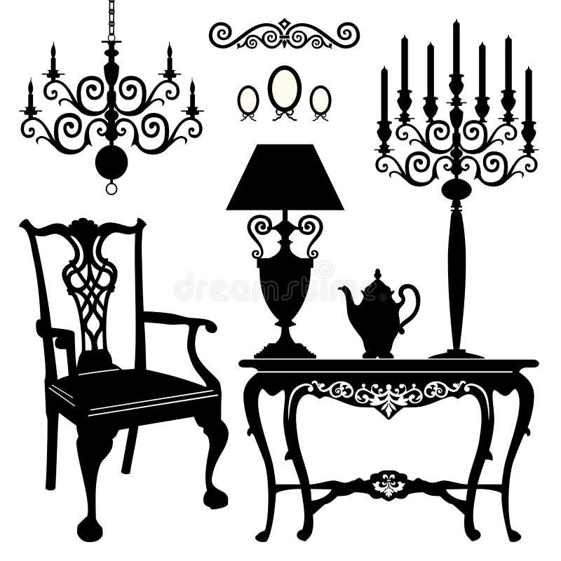 Antike Möbel vektor abbildung