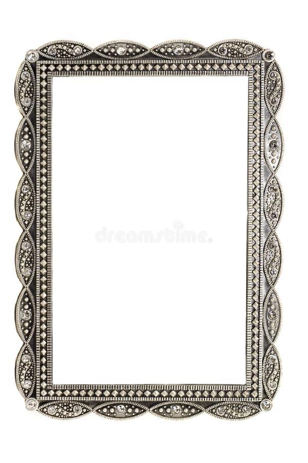 Antike Metallabbildung und Fotofeld lizenzfreies stockfoto