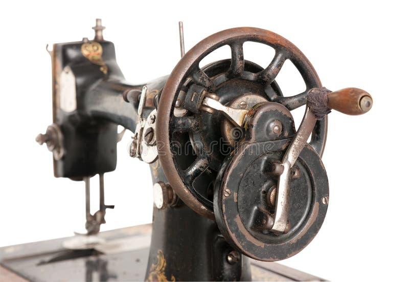 Antike Nähmaschinenahaufnahme lizenzfreie stockfotografie