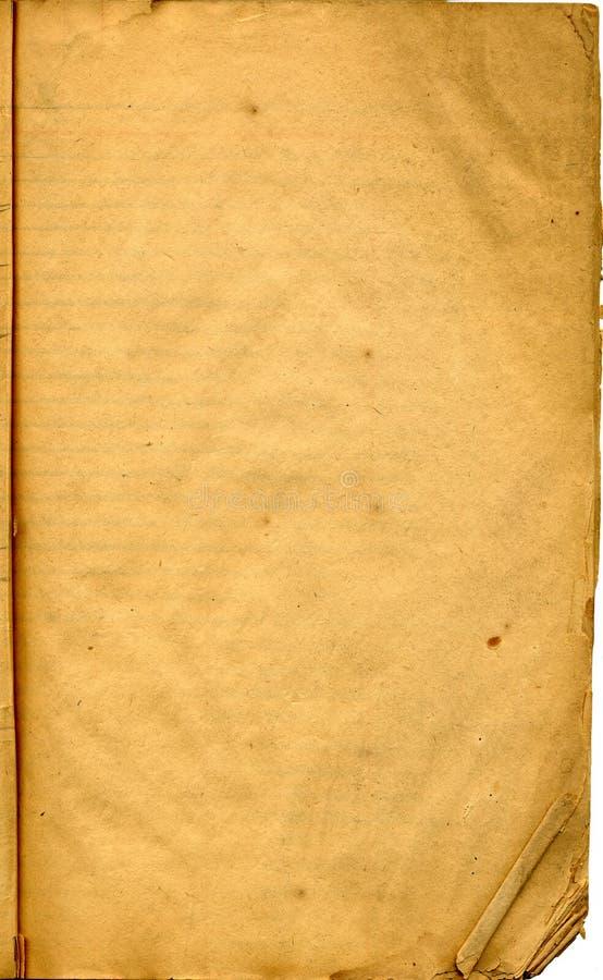 Antike Papierseite lizenzfreie stockfotos
