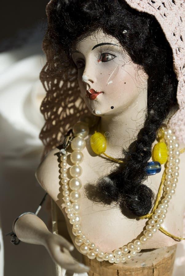 Antike Porzellanpuppe lizenzfreies stockfoto