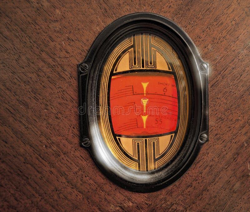 Antike Radioskala  lizenzfreies stockbild