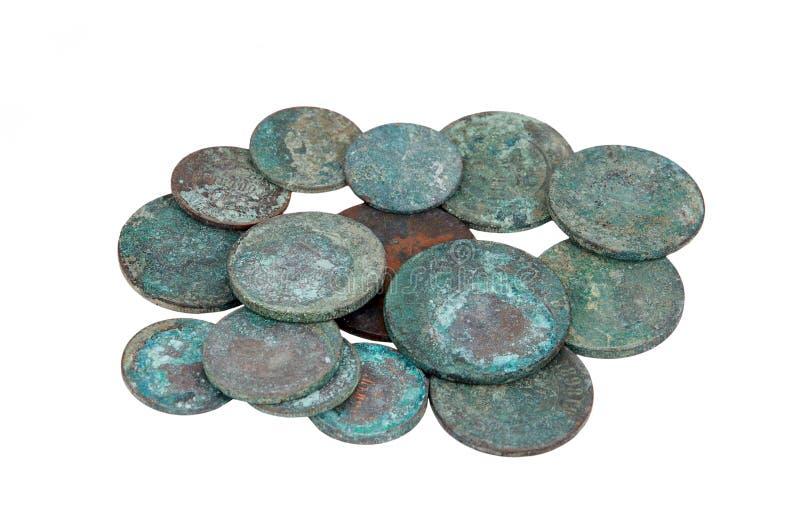 Antike russische Münze stockfotos