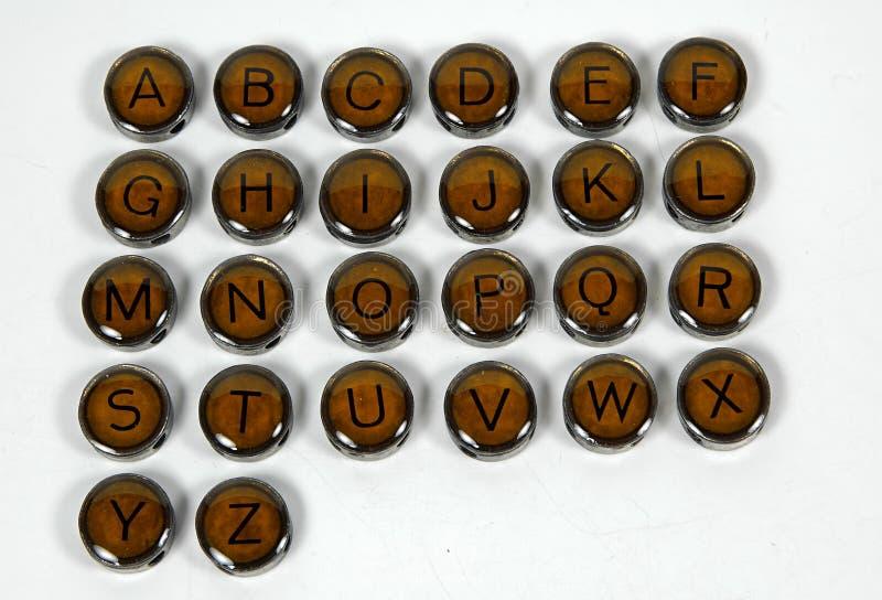 Antike Schreibmaschinen-Tasten lizenzfreie stockfotografie