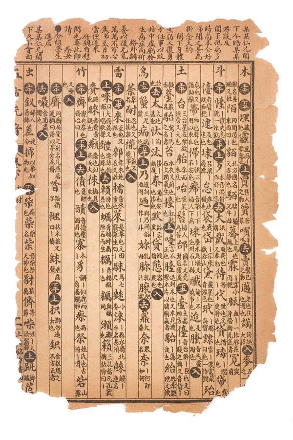 Antike Seite des chinesischen Buches lizenzfreie stockfotografie