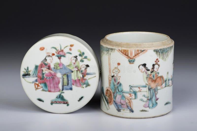 Antike Teedose stockbilder