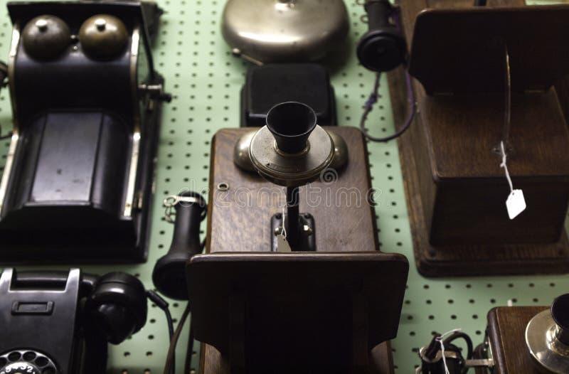 Antike Telefone lizenzfreie stockfotografie
