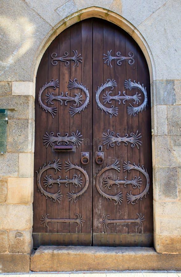 Antike verzierte Tür lizenzfreies stockbild