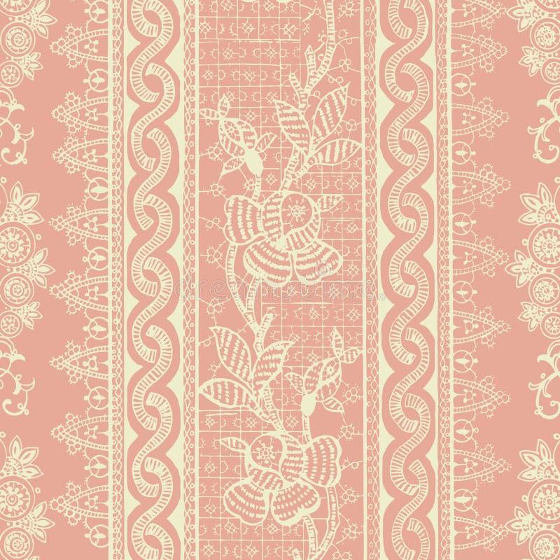 Antike Weinlese-böhmischer mit Blumenhintergrund vektor abbildung