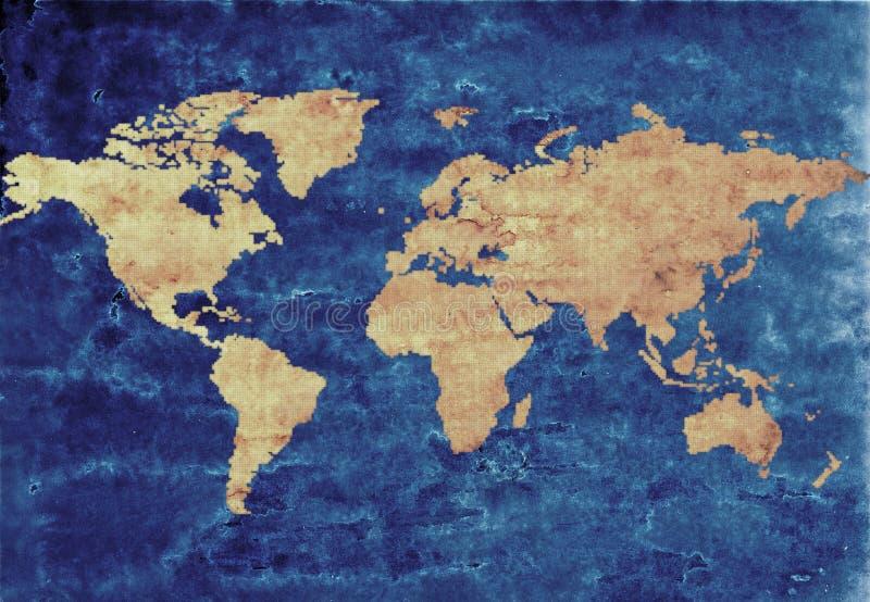 Antike Weltkarte stock abbildung