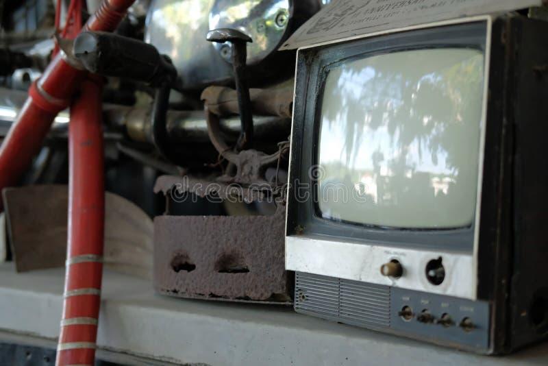 Antiken-Fernsehfernsehen der alten Weinlese Retro- stockbilder