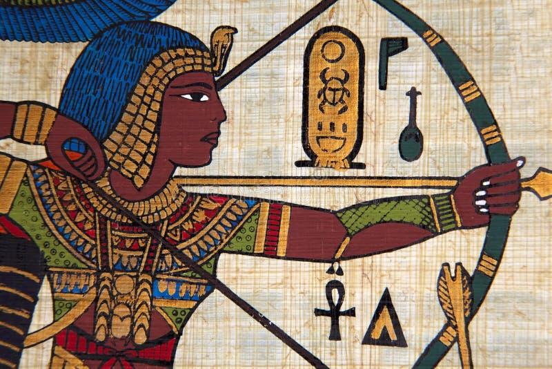 Antiker ägyptischer Papyrus lizenzfreie stockbilder