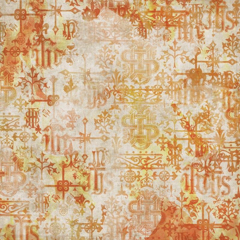 Antiker Alphabet-Hintergrund lizenzfreie stockfotos