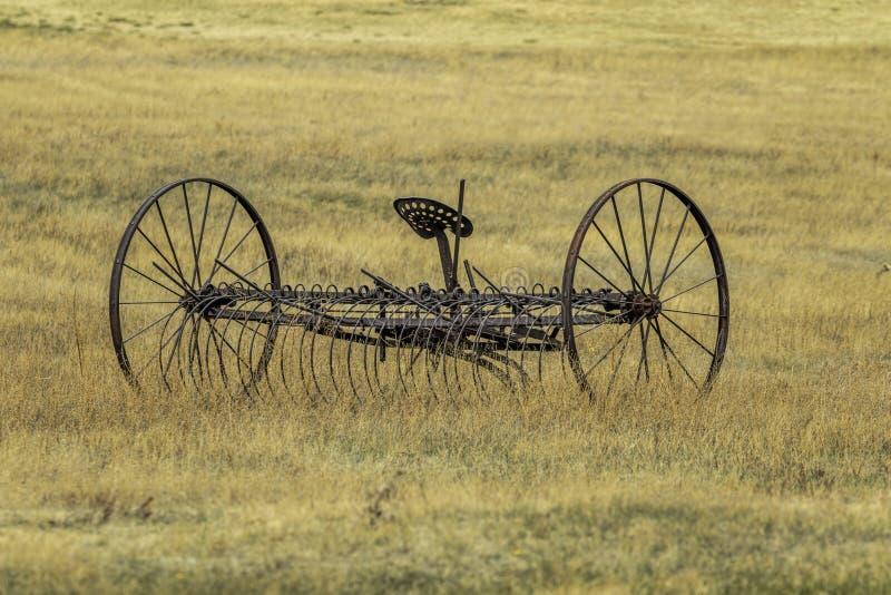 Antiker Bauernhof Hay Rake stockbild
