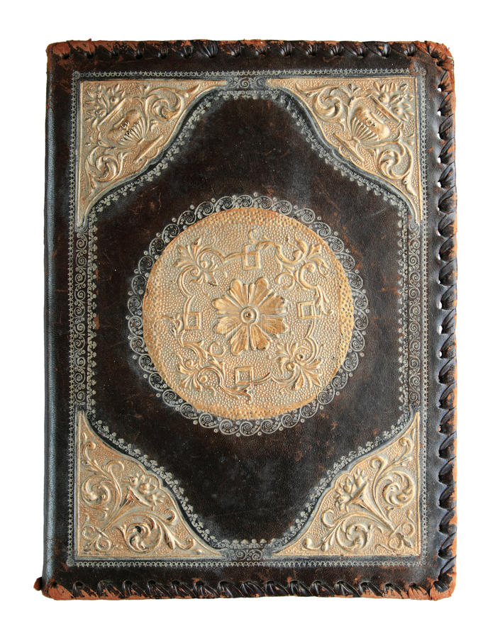 Antiker Bucheinband lizenzfreie stockbilder