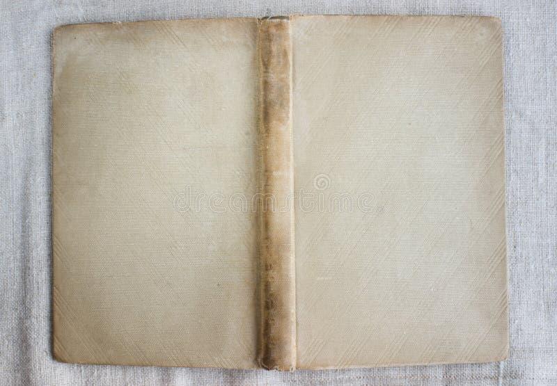 Antiker Bucheinband, offene, Draufsicht stockfotos