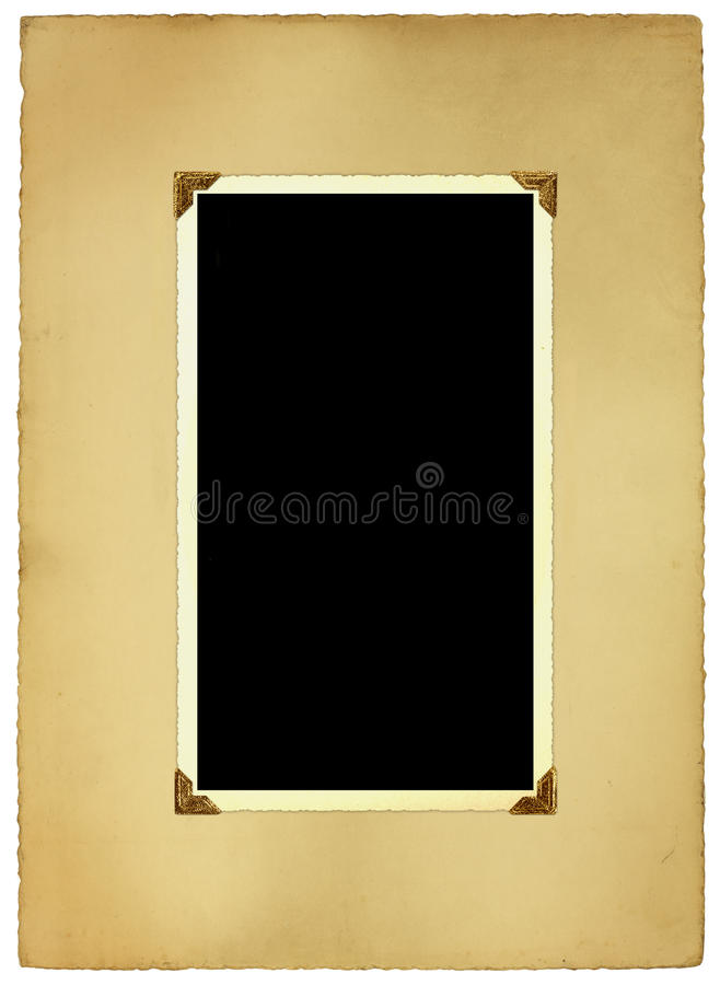 Antiker Foto-Rand und Montierung lizenzfreie stockbilder