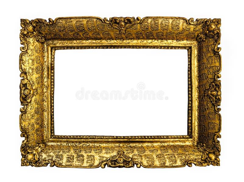 Antiker Goldbilderrahmen stockfoto