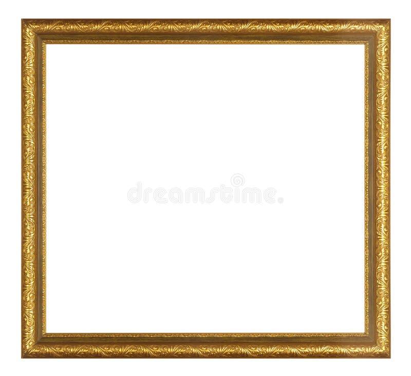 Antiker goldener Rahmen lokalisiert stockbild