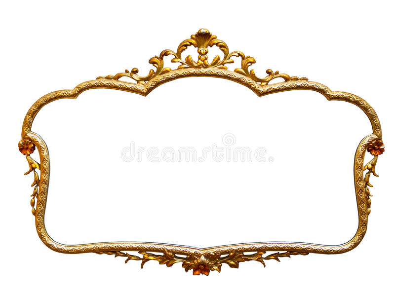 antiker goldener rahmen lokalisiert auf wei em hintergrund stockfoto bild von klassisch farbe. Black Bedroom Furniture Sets. Home Design Ideas
