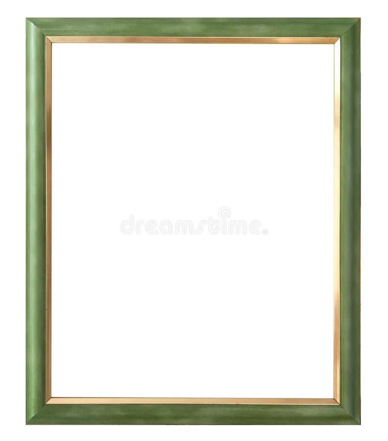 Antiker goldener Rahmen lokalisiert auf weißem Hintergrund mit Beschneidungspfad Europäische Kunst stockfoto