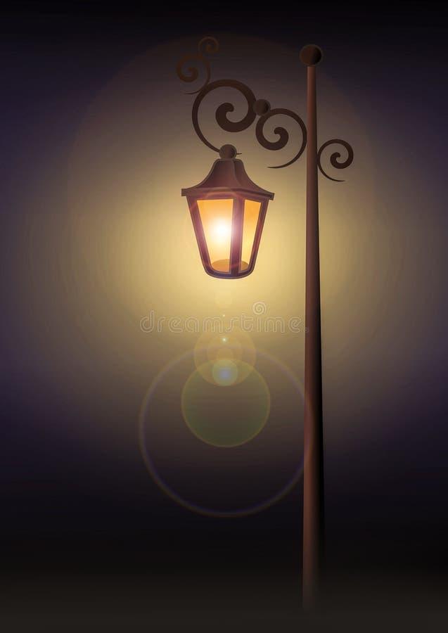 Antiker Lampenpfosten stock abbildung