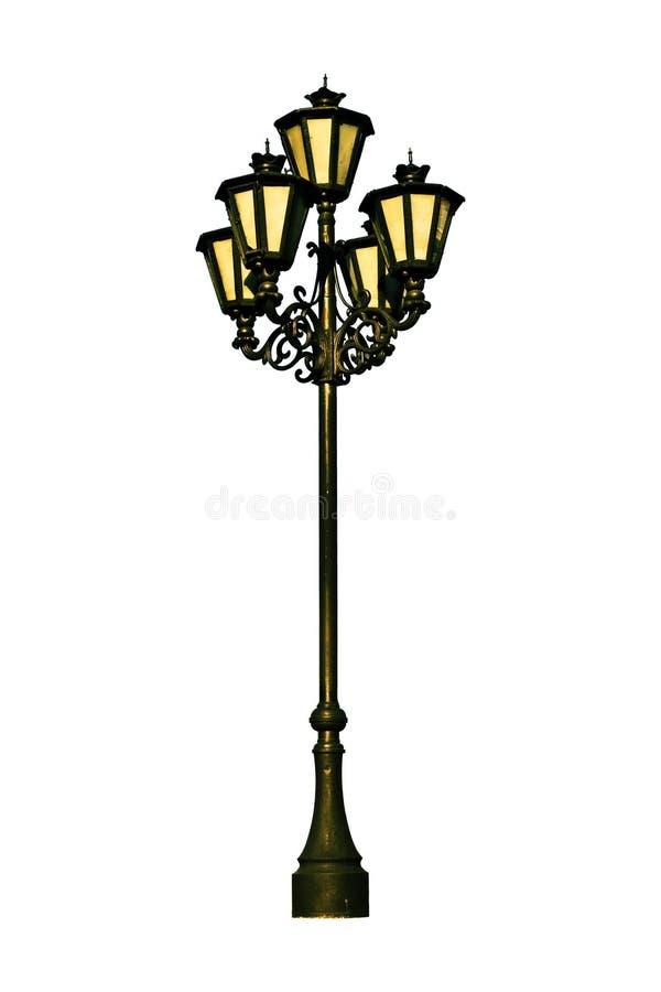 Antiker Lampenpfosten stockfoto