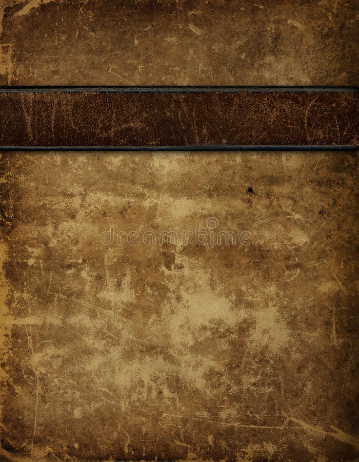 Antiker lederner Bucheinband lizenzfreie abbildung