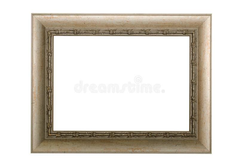 Antiker leerer Fotorahmen schild Plakatgrenze lizenzfreie stockfotos