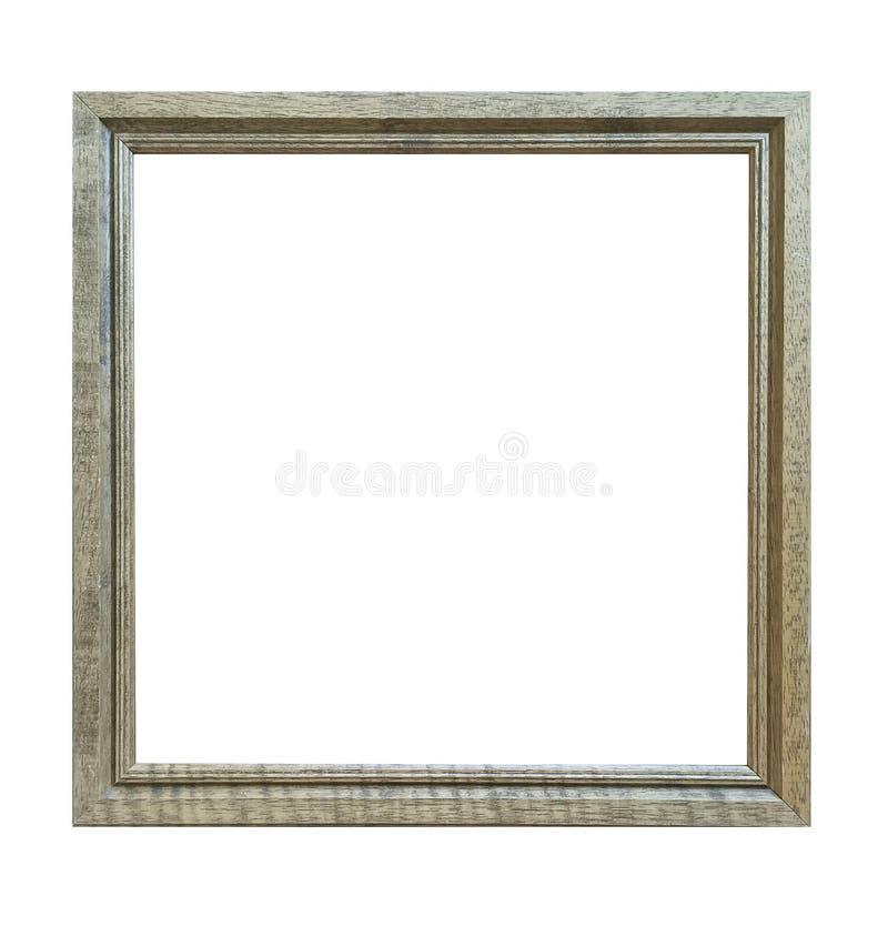 Antiker Rahmen lokalisiert auf weißem Hintergrund mit Beschneidungspfad lizenzfreies stockfoto