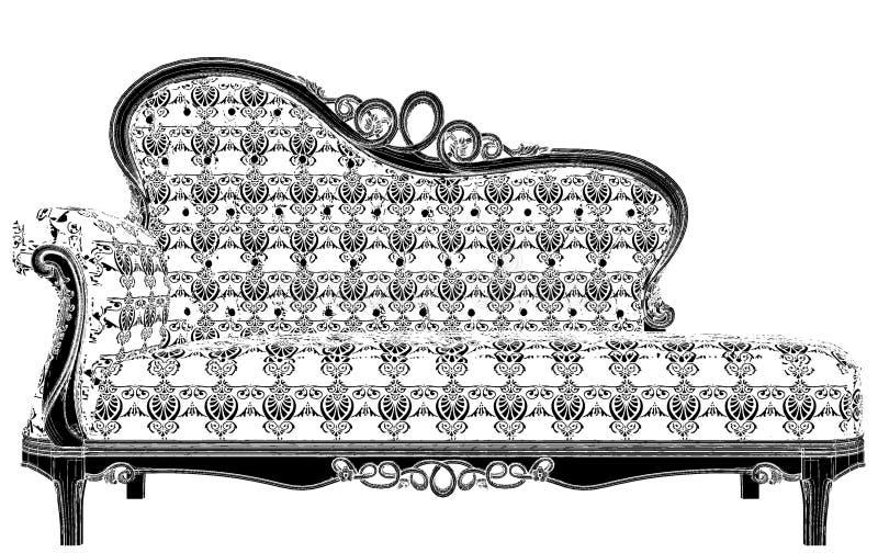 Antiker Sofa Vector vektor abbildung