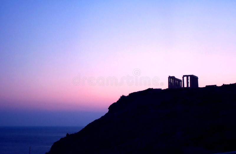Antiker Sonnenuntergang Lizenzfreies Stockbild