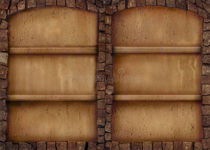 Antiker Steinregalhintergrund stockfotos