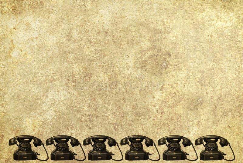 Antiker Telefonhintergrund stockbild