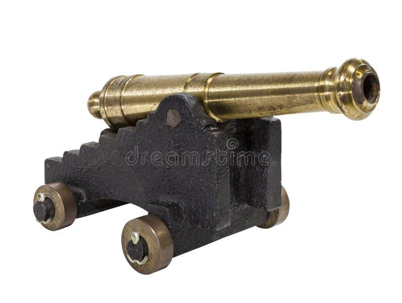 Antiker Toy Cannon Isolated lizenzfreies stockbild