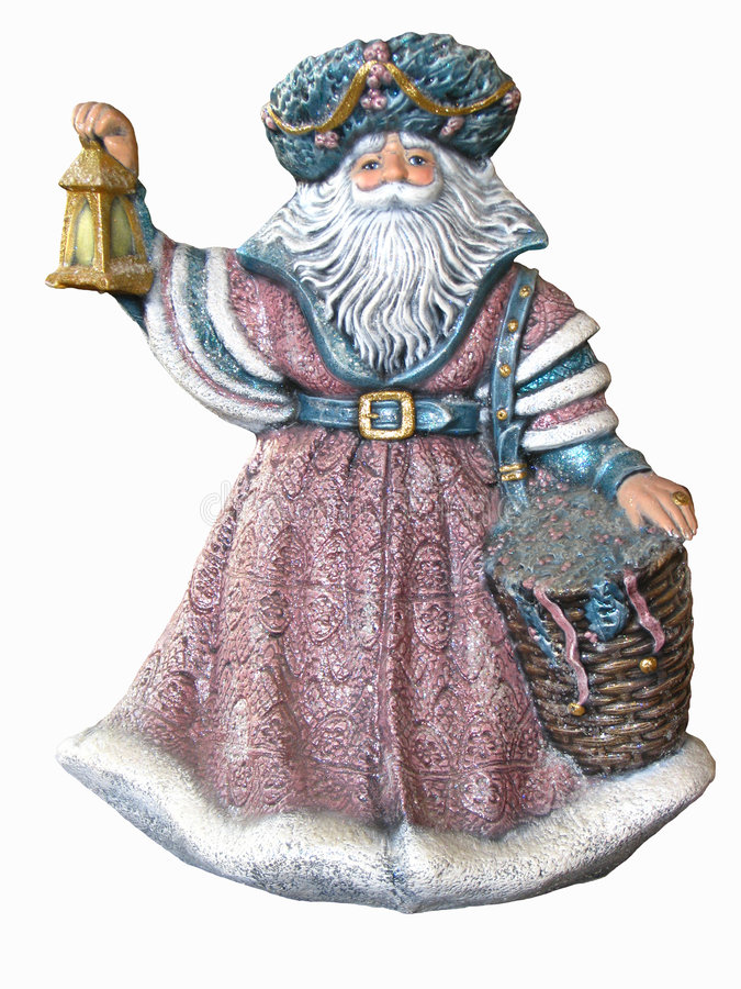 Antiker Weihnachtsmann-Anstrich lizenzfreie stockfotos