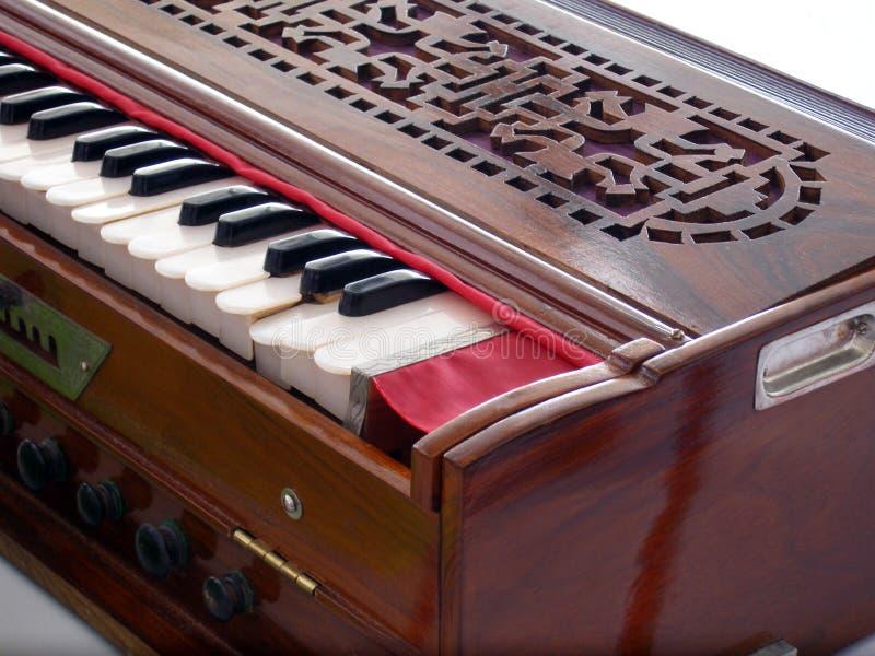 Antiker Weinlese Harmonium stockbild