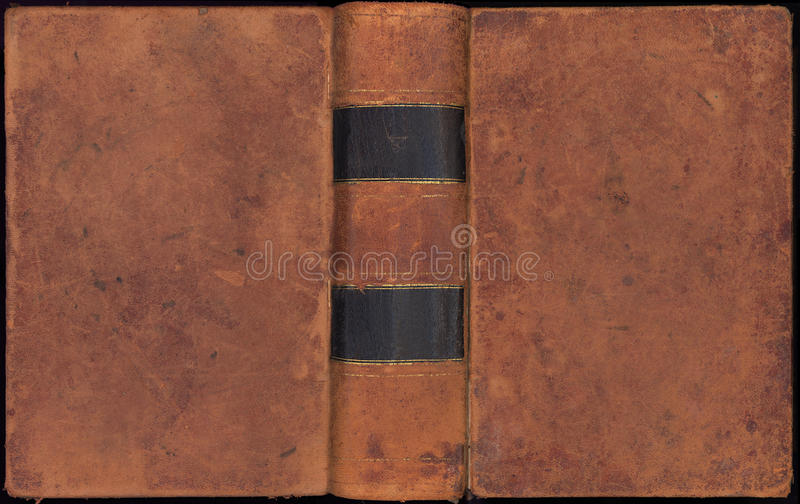 Antiker Weinlese-Leder-Bucheinband stockfotografie