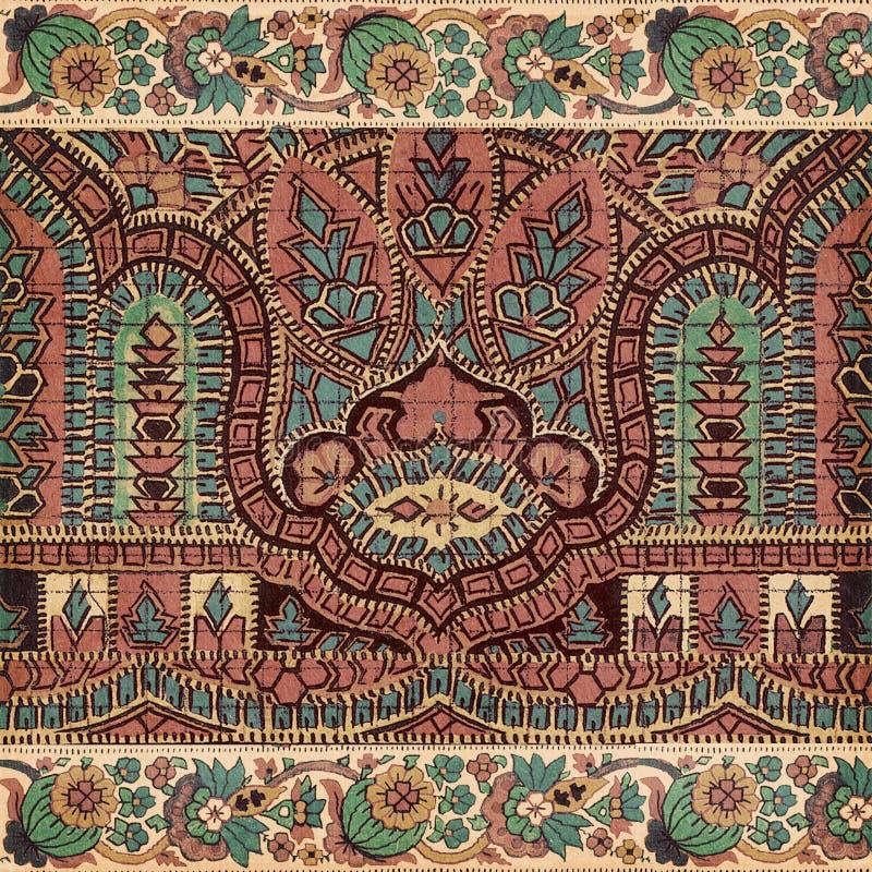 Antiker Weinlesepaisley-Inderhintergrund stockfoto