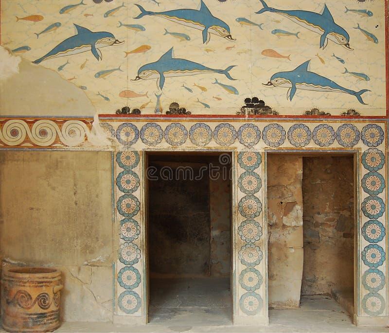 Antikeruinen in Griechenland lizenzfreie stockbilder