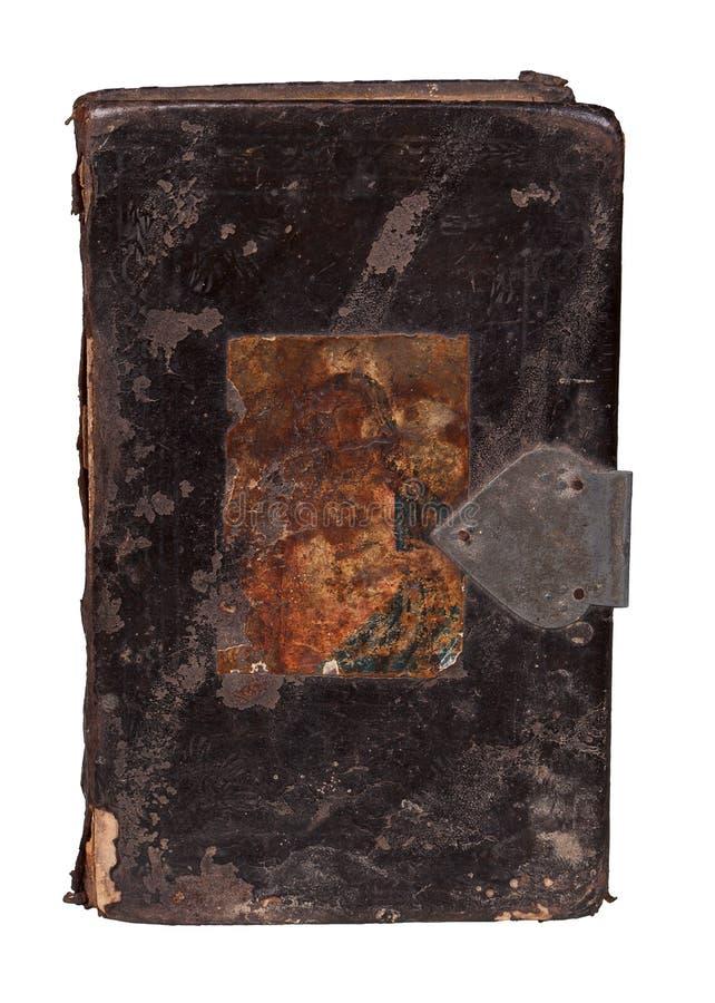 Antikes Buch getrennt auf Weiß. stockbild