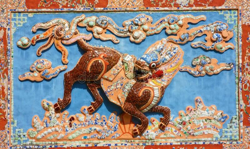 Antikes Detail, Porzellan ebris stockfotografie