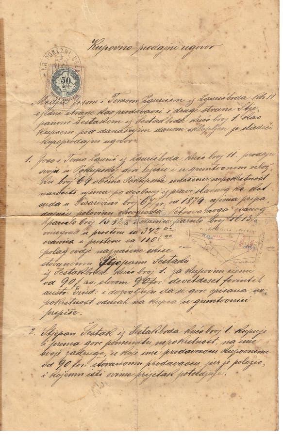 Antikes Dokument der Weinlese lizenzfreie stockbilder