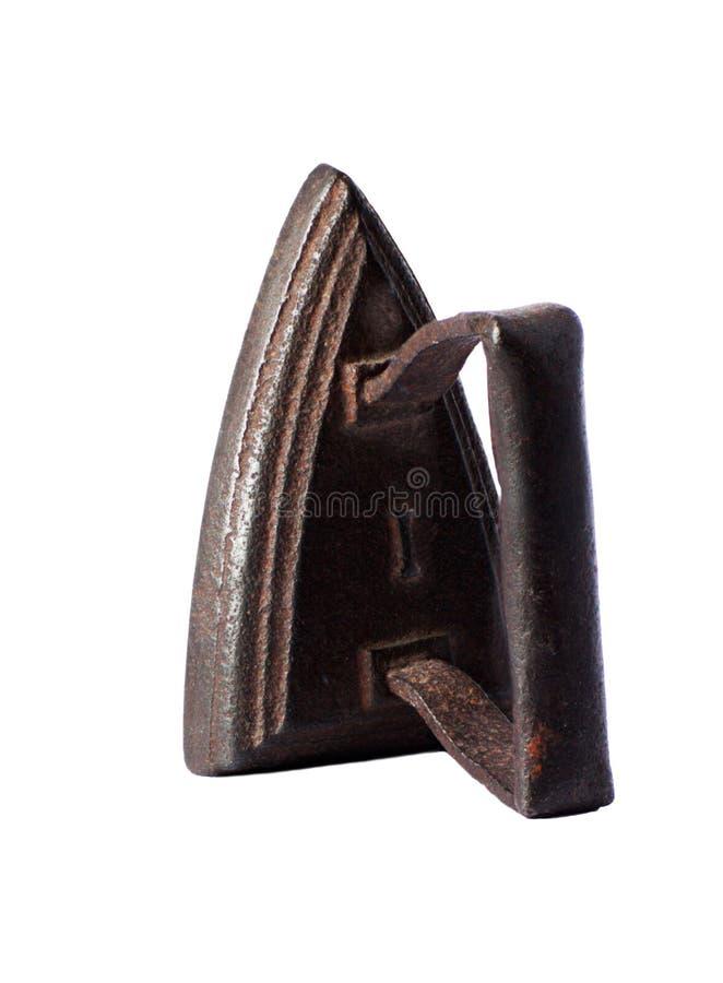Antikes Eisen lokalisiert auf einem weißen Hintergrund lizenzfreies stockfoto