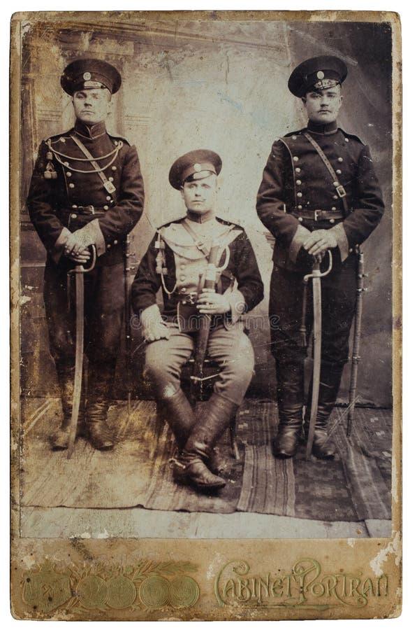 Antikes Foto der ursprünglichen 1900s des Baumsoldaten lizenzfreie stockbilder