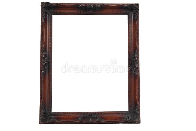 Antikes hölzernes frameon Weiß lizenzfreie stockfotografie
