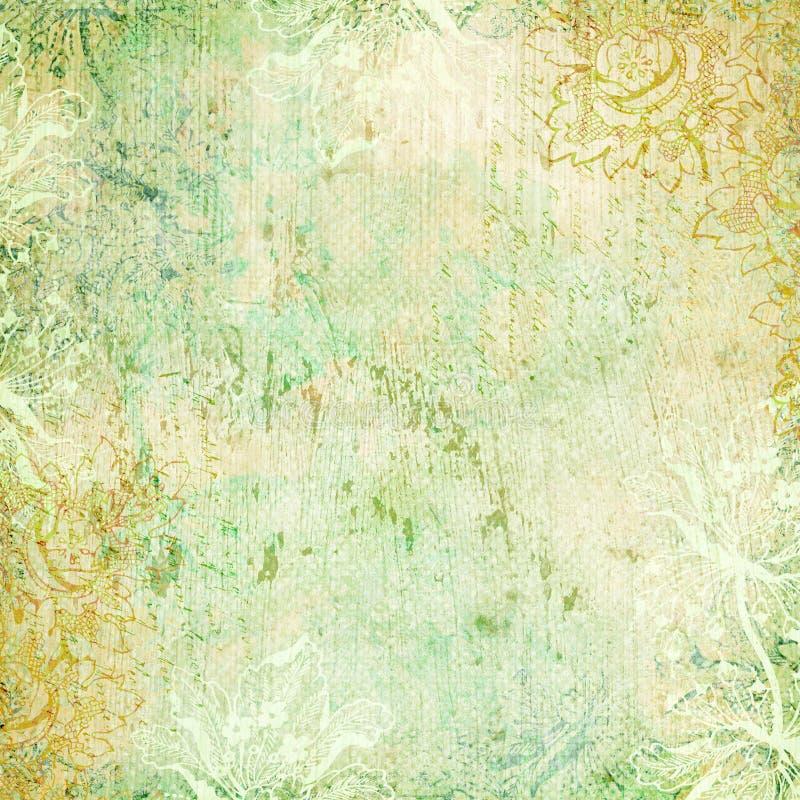 Antikes Hintergrundmit blumenthema der Weinlese stock abbildung