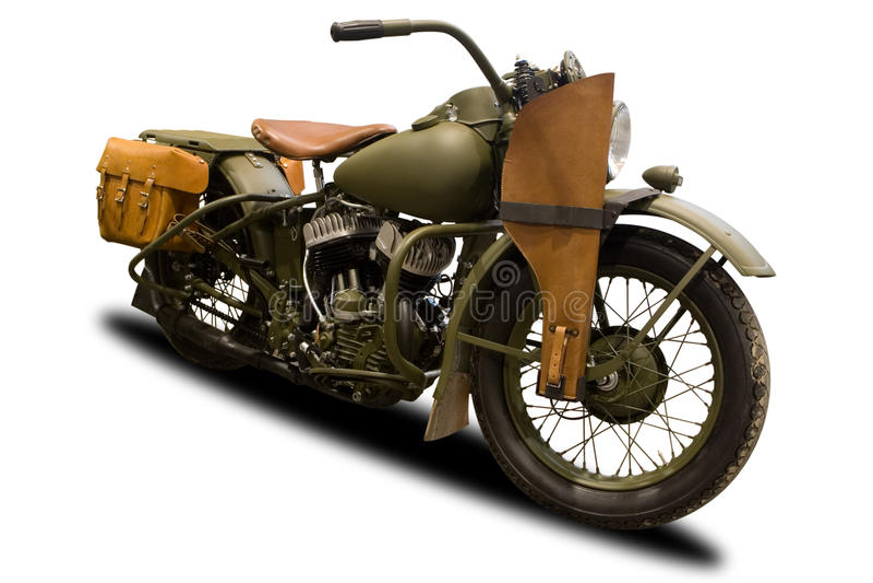 Antikes Militärmotorrad lizenzfreie stockfotos