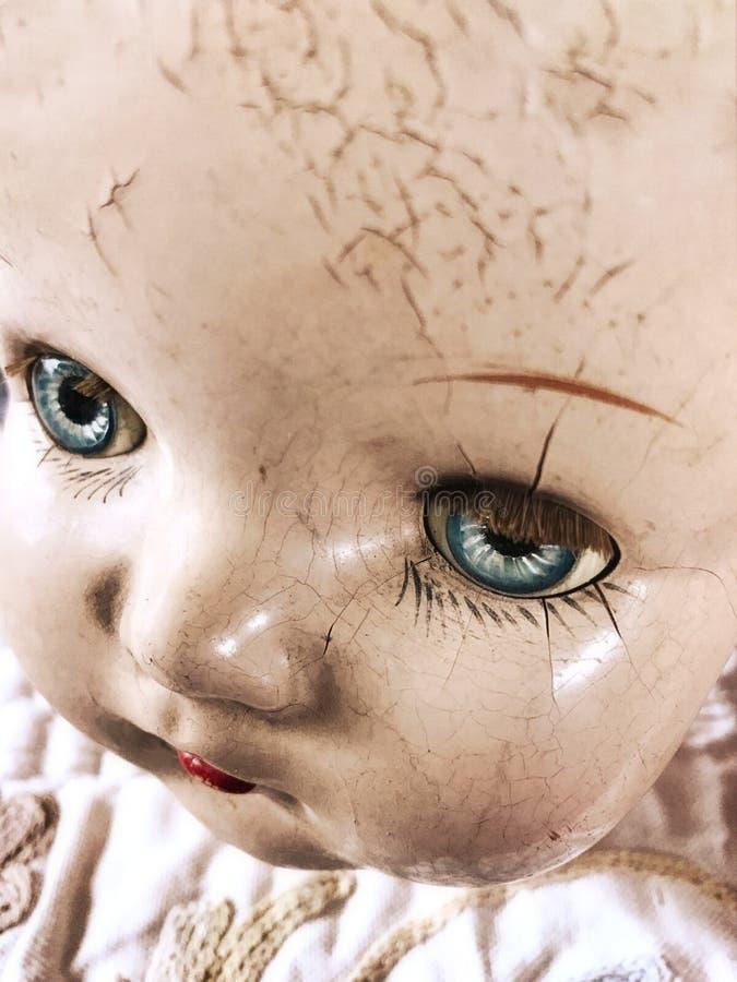 Antikes Puppegesicht lizenzfreie stockbilder
