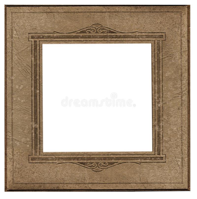 Antikes quadratisches Fotofeld lizenzfreie stockfotos